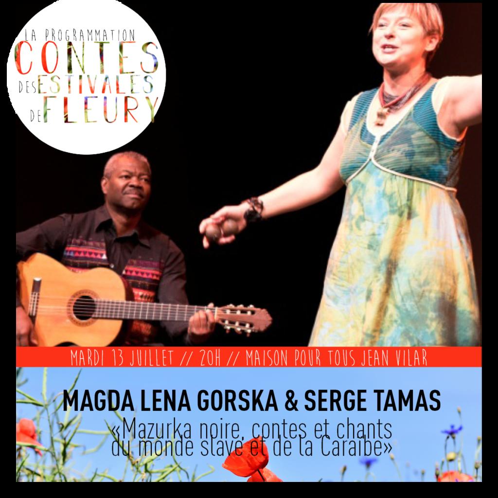 """Magda Lena Gorska & Serge Tamas : """"Mazurka noire, contes et chants du monde slave et de la Caraïbe"""""""